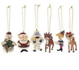 Jim Shore Rudolph Traditions 6 Ornament Set —