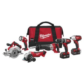 Milwaukee Tool 2696 26 M18 Cordless Lithium Ion 6 Tool Combo Kit