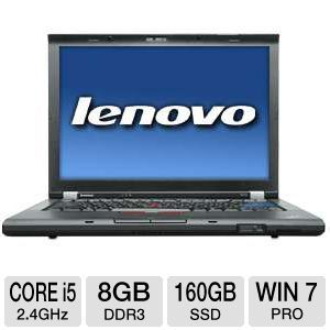 lenovo thinkpad 14 1 core i5 160gb ssd notebook note the condition of