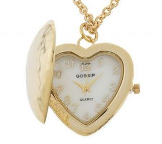 Gossip Hidden Heart Pendant Watch with Chain —