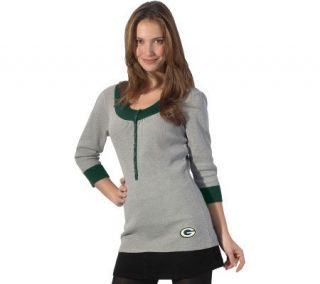 NFL Green Bay Packers Womens Thermal Tunic Top —