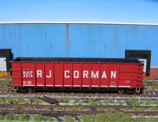 Custom HO Scale RJ Corman Thrall Coal Gondola RJCP Weathered Trucks