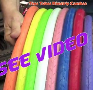 Colors 2 Bike Tires Tubes Rimstrips Combo Free SHIP Road Bicycle