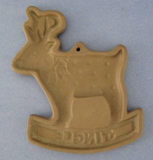 Hartstone Country Gear Stoneware Cookie Mold Reindeer Christmas
