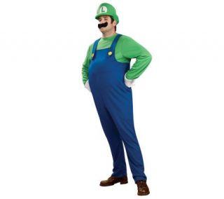 Super Mario Bros.   Deluxe Luigi Plus Adult Costume   H180234