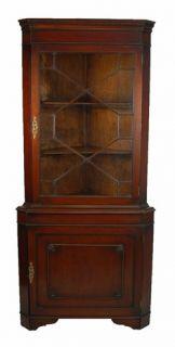 Mahogany Georgian Style Corner Cabinet Cupboard