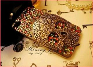 3D Cool Skull Bling Assorted Color DIY for Cell Phone iPhone Case Deco