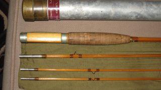 Leonard Bamboo Fly Rod 7f 6 Model 49 4 5w 3pc 2 ips Very Good
