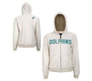 NFL Miami Dolphins Womens Jacket with SweaterLined Hood —