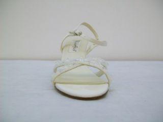 coloriffics women s tiffany ivory satin sandal 7m