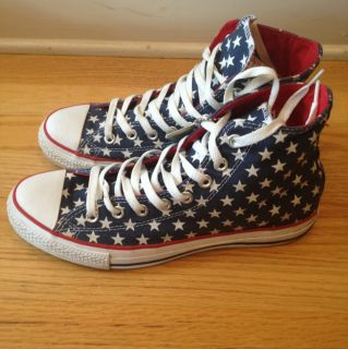 Converse All Stars star print boot hi top shoe navy blue Converse size