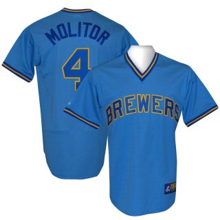 Brewers Paul Molitor Cooperstown Throwback Jersey L