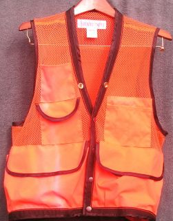 Ben Meadows High Visability Bright Orange Mesh Hunting Vest sz L