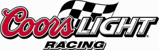 Coors Light Vinyl Sticker Decal 6 Racing Full Color