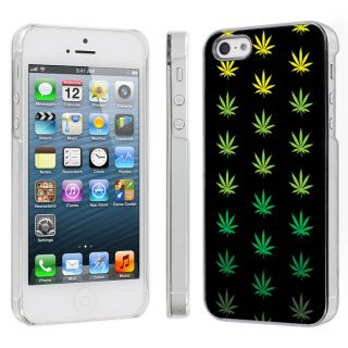Apple iPhone 5 Snap on Hard Plastic Case Cover Weed