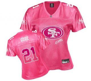 NFL San Francisco 49ers Frank Gore Womens PinkFem Fan Jersey