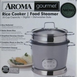 Gourmet 20 Cup Digital Rice Cooker Food Steamer NEW Complete meals in