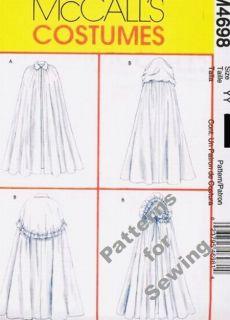 Pattern Sewing McCalls Women Costume 2 Styles of Cape Size 16 22 New