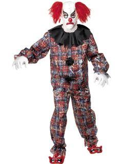Adult Mens Scary Clown Halloween Smiffys Fancy Dress Costume  L