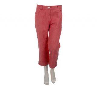 Denim & Co. Modern Waist Stretch Colored Denim Crop Jeans —