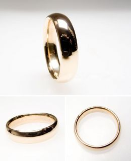 Comfort Fit Mens Wedding Band Ring Solid 14K Gold skuwm7290