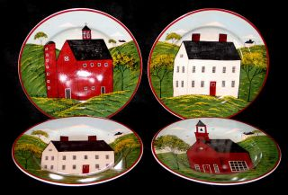 Sakura Brandon House Country Life 4 Salad Plates