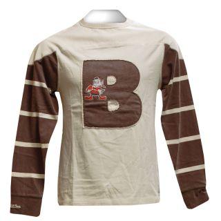 Cleveland Browns Gridiron Mitchell Ness LS Shirt M