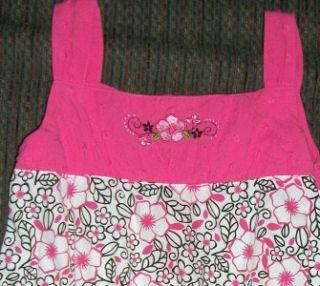 Copper Key Girls Size 5 Sleeveless White Pink Black Cotton Tiered