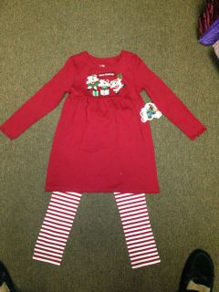 Copper Key Girls 2 Piece Holiday Christmas Outfit MSRP 30 00