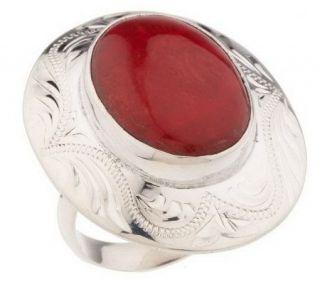 Gustavo Artisan Crafted Sterling Oval Gemstone Ring —