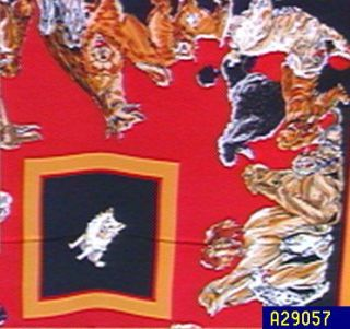 Bob Mackies Dog Lovers Silk Scarf —