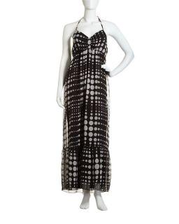 Romeo Juliet Couture Dot Print Halter Dress