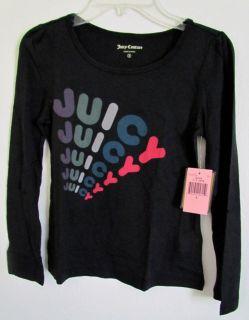 Juicy Couture Kids Juicy Juicy Juicy Tee T Shirt Top 7 8 10 12 14 Blue