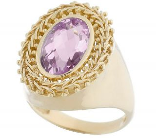 Imperial Gold Bold Gemstone Wheat Ring 14K Gold —