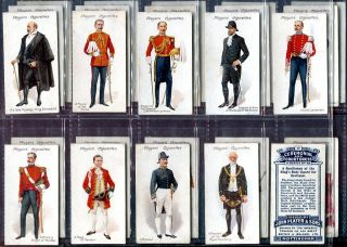 Tobacco Card Set, John Player, CEREMONIAL & COURT DRESS, Regalia, 1911