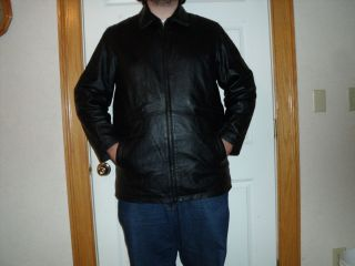 Excelled Mens Genuine Black Motorcycle Leather Jacket Sz Extra Large