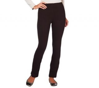 Susan Graver Stretch Cotton Full Length Leggings w/Elastic Band