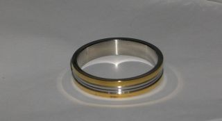 Chromium Coated Stainless Steel Mens Ring Size 17
