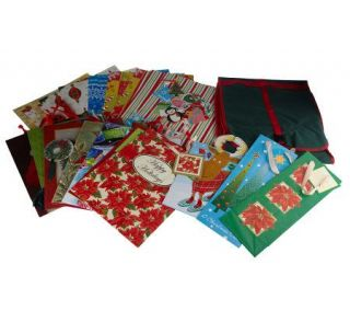 Design Scapes 65 pc Gift Bag, Wrap and Ribbon Set w/ Tri Fold