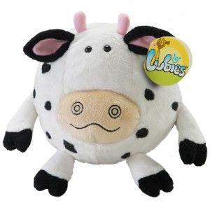 Novelty Plush Round Ball Stuffed Animal BLACK & WHITE COW Rocket USA