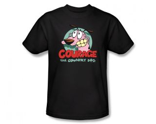 Courage The Cowardly Dog Logo Cartoon Network Adult T Shirt Tee