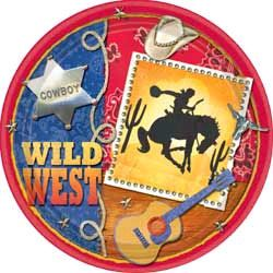 Wild West Western Cowboy Theme Party Pack 8 Plates