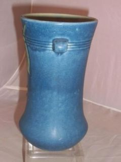 Weller Art Pottery Cornish Sea Blue Vase TLC
