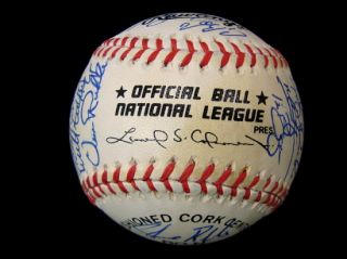 Houston Astros Team Signed Baseball w Craig Biggio Jeff Bagwell
