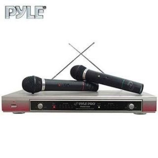 pyle pro pdwm2000 dual vhf wireless microphone system see more