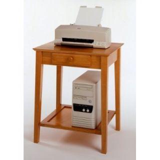 Solid Wood Corner Computer Desk File Cabint Stand Set