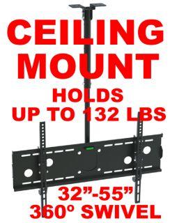 LED LCD Plasma Flat Screen TV Ceiling Mount Tilt 32 55 bracket