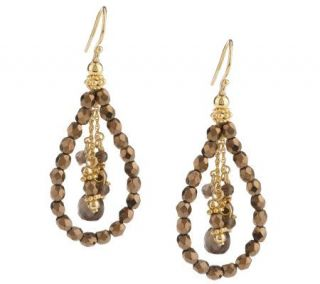 Avindy Sterling & 14K Gold Plated Gemstone Drop Earrings —