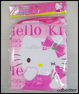 Hello Kitty LCD Monitor Screen Keyboard Cover Protector