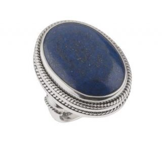Suarti Artisan Crafted Sterling Bold Lapis Ring —